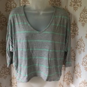 Bar III gray striped cropped top sz S/M